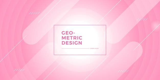 Rosa abstrakter geometrischer hintergrund Premium Vektoren