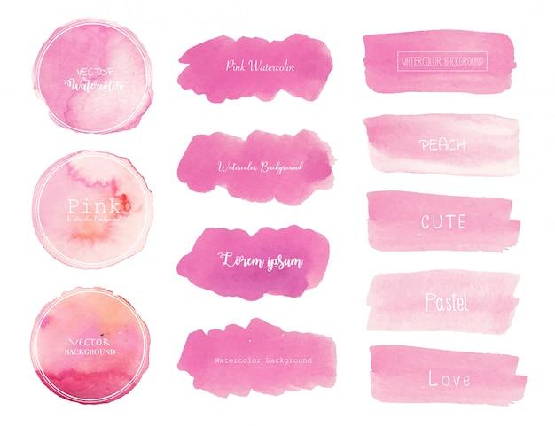 Rosa aquarellhintergrund. Premium Vektoren