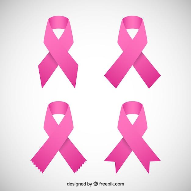 Rosa bänder Premium Vektoren