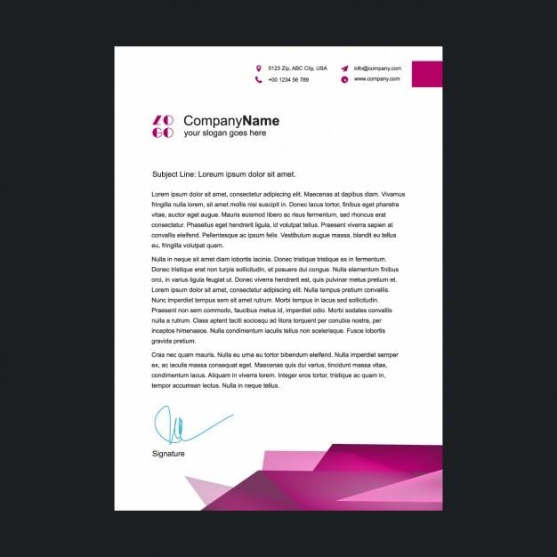 Rosa Briefkopf Vorlage Download Der Kostenlosen Vektor