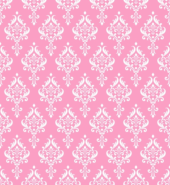 Rosa damastmuster Premium Vektoren