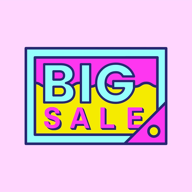 Rosa einkaufsverkauf abzeichen design Kostenlosen Vektoren