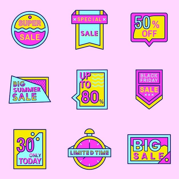Rosa einkaufsverkauf-ausweisdesign Kostenlosen Vektoren
