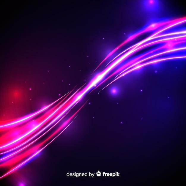 Rosa lichtwelleneffekt mit partikeln Kostenlosen Vektoren