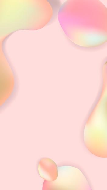 Rosa pastellflüssigkeitsentwurfsplakatvektor Kostenlosen Vektoren