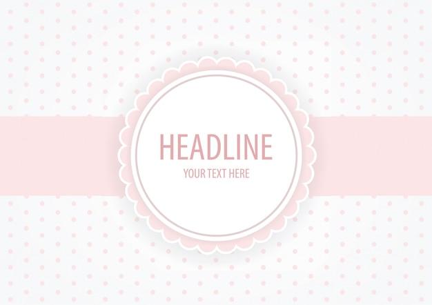 Rosa pastellmarke, einladung, babyparty-hintergrund Premium Vektoren
