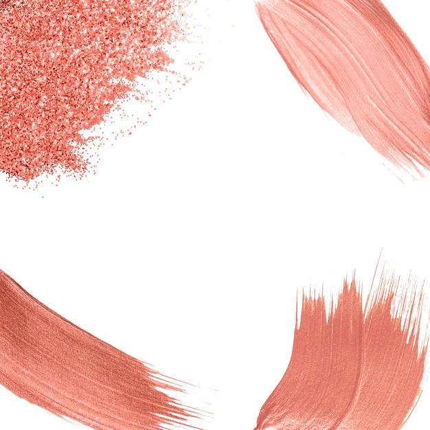 Rosa pinselstriche sammlung Kostenlosen Vektoren