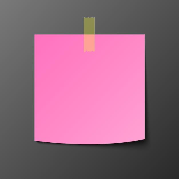 Rosa post briefpapier mit schatten Premium Vektoren