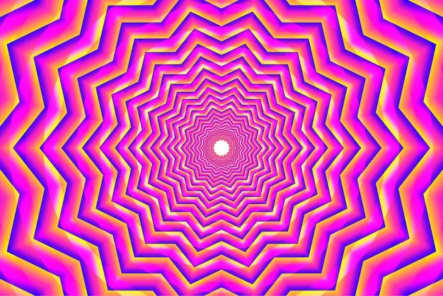Rosa psychedelische optische täuschungshintergrund Premium Vektoren