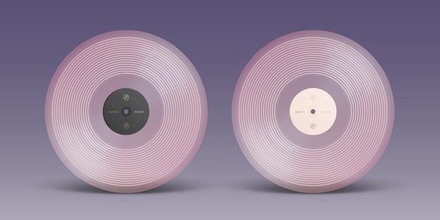 Rosa schallplatte lokalisiert auf hintergrund Premium Vektoren