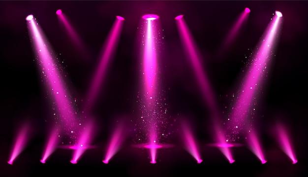 Rosa scheinwerferstrahlen mit funkeln Kostenlosen Vektoren