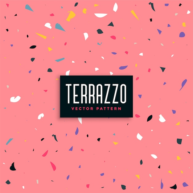 Rosa terrazzomuster-hintergrunddesign Kostenlosen Vektoren