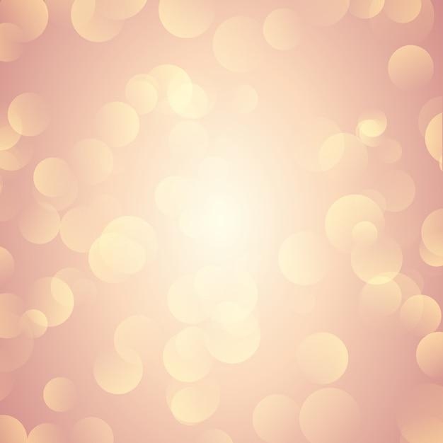 Rose gold bokeh beleuchtet hintergrund Kostenlosen Vektoren