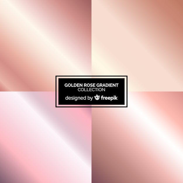Roségold-farbverlaufssammlung Kostenlosen Vektoren