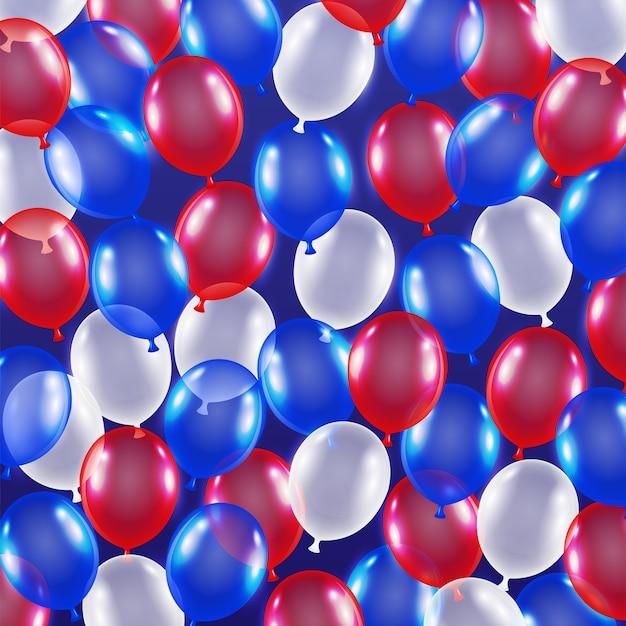 Rot Blau Weiß Ballon Hintergrund Usa Flagge Thema