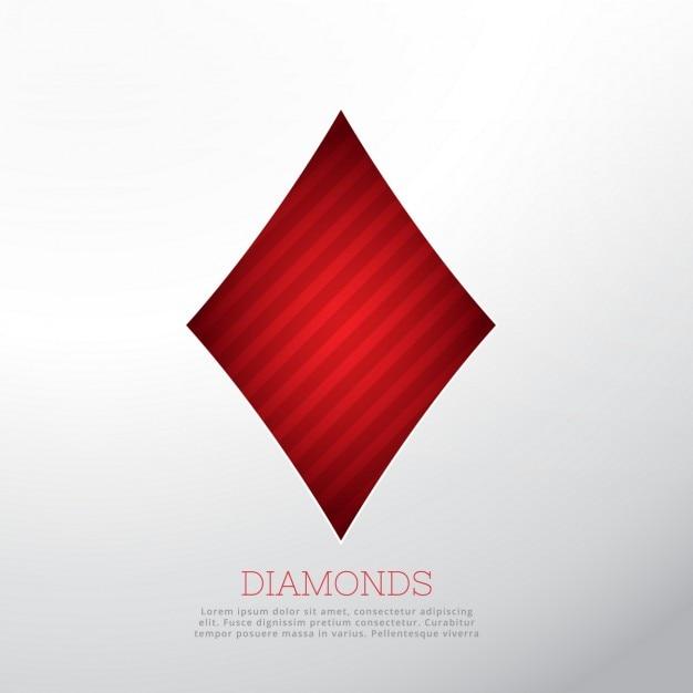 Rot form diamant auf weißem hintergrund Kostenlosen Vektoren