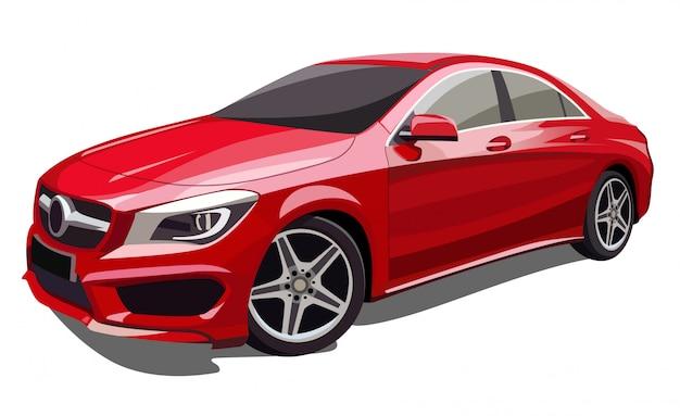 Rote autoillustration Premium Vektoren