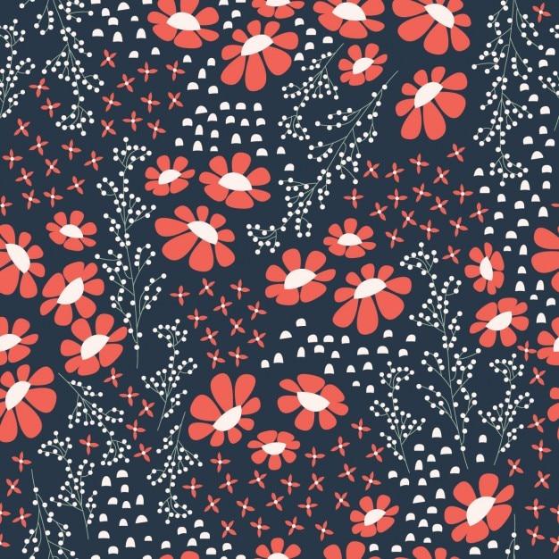 Rote Tapete Mit Blumenmuster : ein Vektor ? Kostenlos f?r kommerziellen Gebrauch mit Quellenangabe
