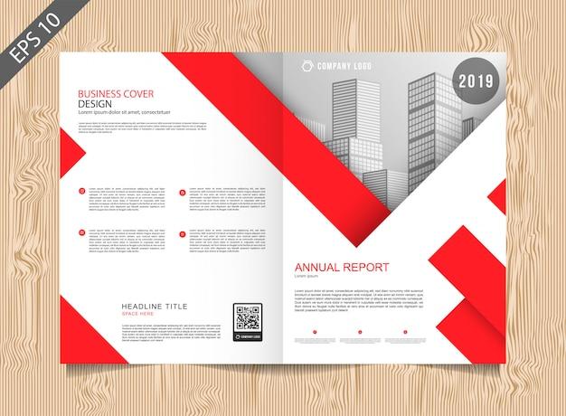 Rote broschürenvorlage Premium Vektoren