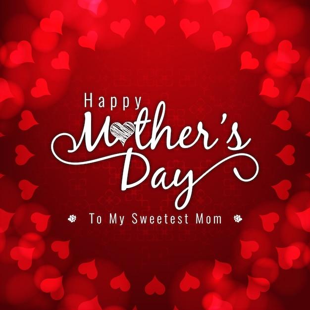 Rote Farbe glücklich Mütter Tag Hintergrund   Download der ...