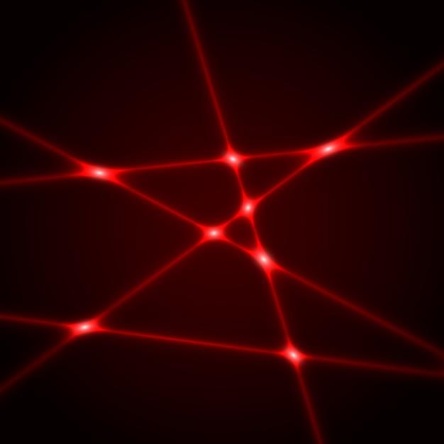 Rote laserstrahlen. lichteffekt. Premium Vektoren