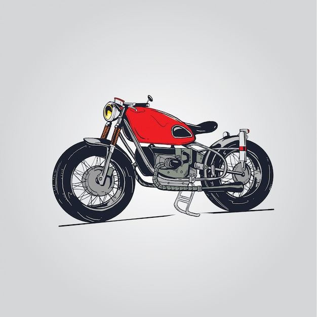 Rote motorradillustration Premium Vektoren