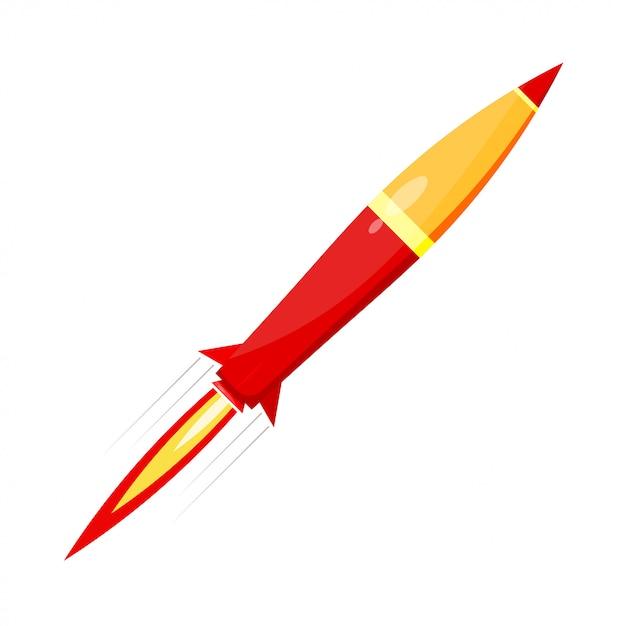 Rote rakete bekämpfen Premium Vektoren
