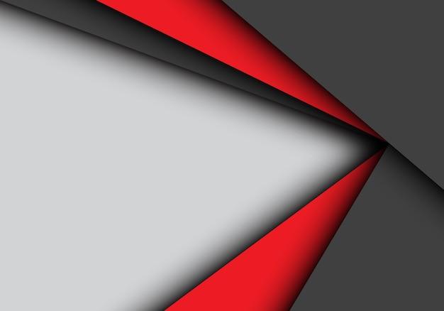 Rote schwarze pfeilüberschneidung auf grauem hintergrund. Premium Vektoren
