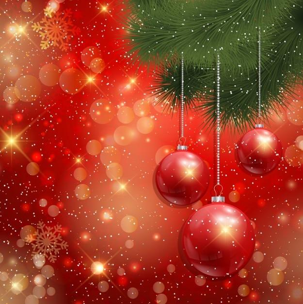 rote weihnachtskugeln auf rotem hintergrund download der kostenlosen vektor. Black Bedroom Furniture Sets. Home Design Ideas