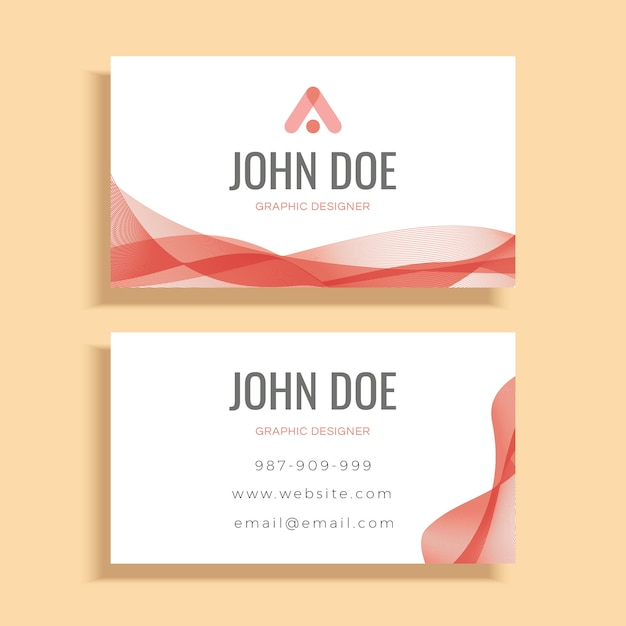 Rote Welle Visitenkarte Vorlage Design Download Der