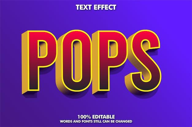 Roter 3d-texteffekt mit goldextrudieren Premium Vektoren