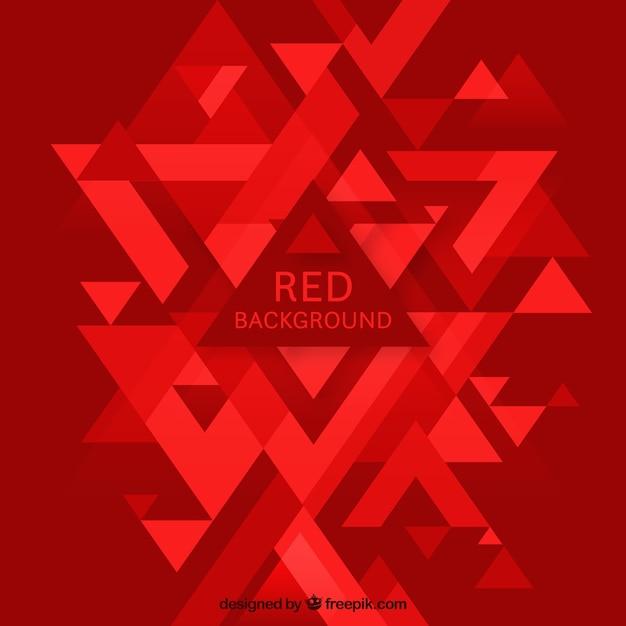 Roter abstrakter hintergrund mit dreiecken Kostenlosen Vektoren