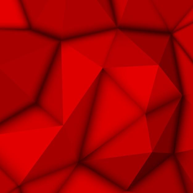 Roter abstrakter polygonaler hintergrund Premium Vektoren