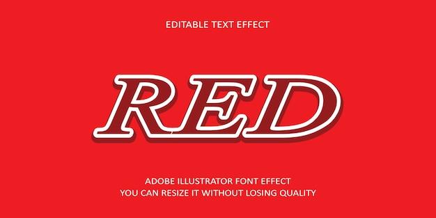 Roter bearbeitbarer texteffekt mit rötlichem hintergrund Premium Vektoren