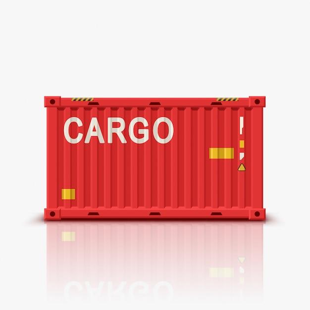 Roter behälter mit reflexion Premium Vektoren