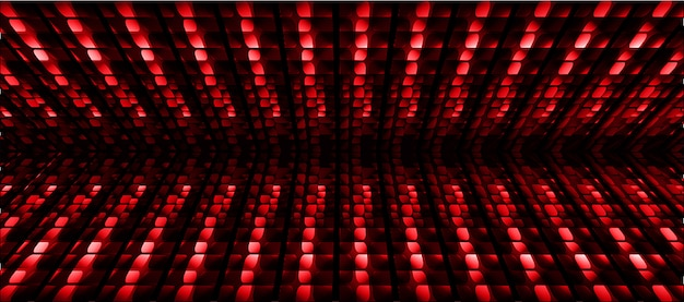 Roter blauer kinoleinwandhintergrund led Premium Vektoren