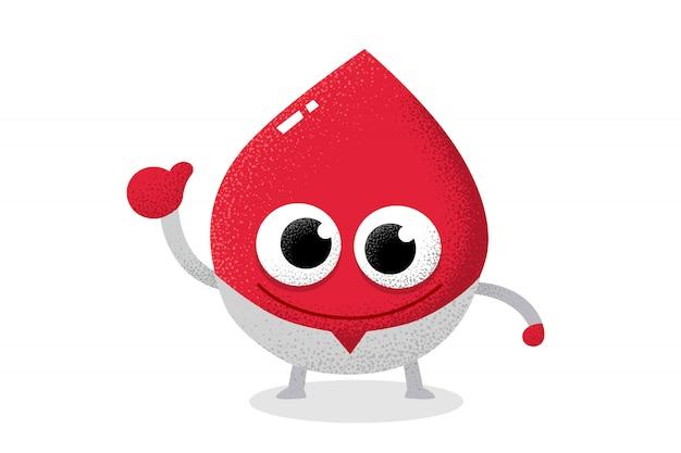 Roter blutcharakter, der als doktor auftritt. Premium Vektoren
