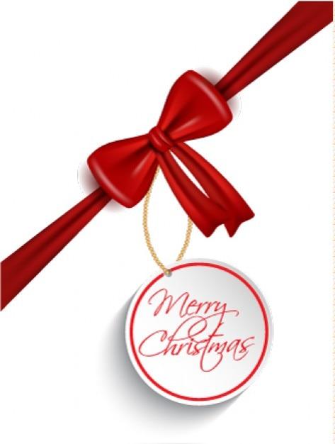 Roter bogen mit einem weihnachten-tag backgrpound Kostenlosen Vektoren