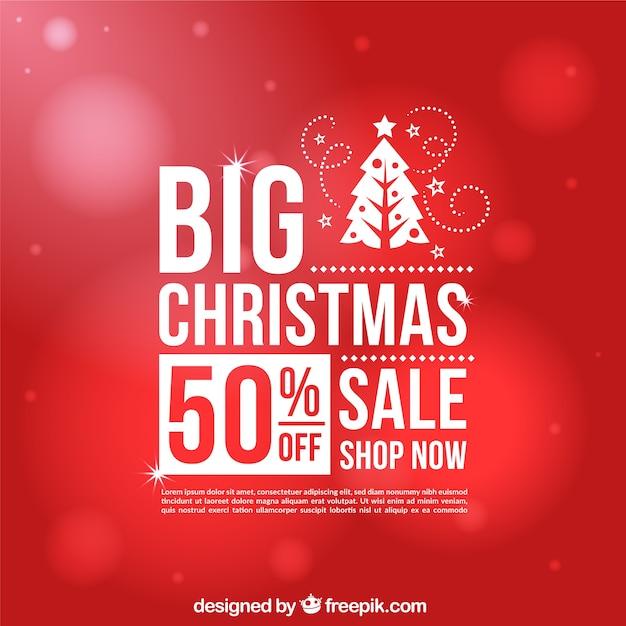 Roter bokeh Hintergrund von Weihnachtsverkäufen Kostenlose Vektoren