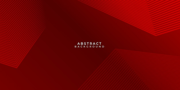 Roter hintergrund mit abstrakten linien stipes modern Premium Vektoren