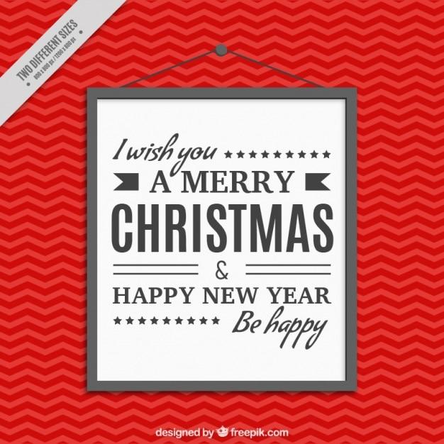 Roter Hintergrund mit fröhlich Weihnachten und Neujahr Plakat ...