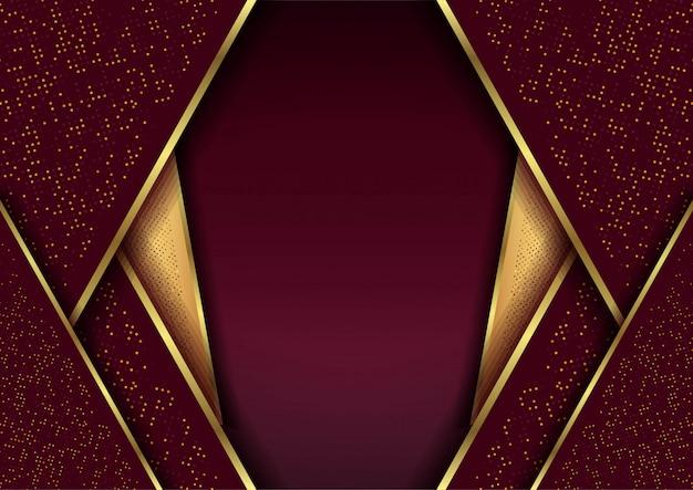Roter luxusmaschenhintergrund mit punktfunkeln-papierkunst Premium Vektoren