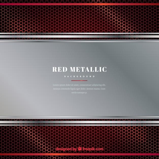 Roter metallischer hintergrund Kostenlosen Vektoren