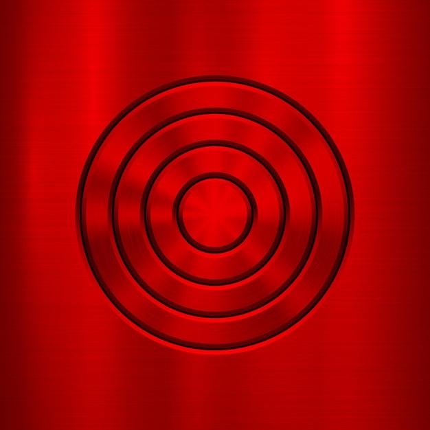 Roter metallzusammenfassungs-technologiehintergrund Premium Vektoren