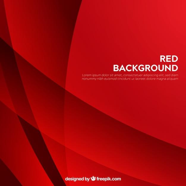 Roter moderner abstrakter hintergrund mit formen Kostenlosen Vektoren