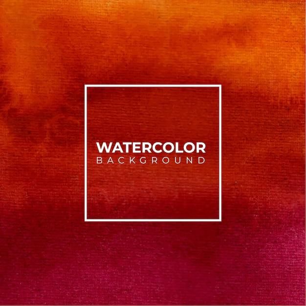Roter orange abstrakter aquarellhintergrund für texturenhintergrund Premium Vektoren