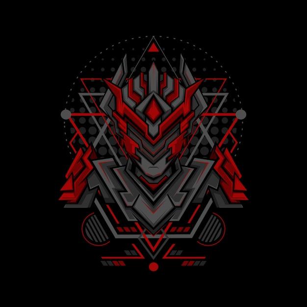 Roter phantomprojekt-geometriestil Premium Vektoren