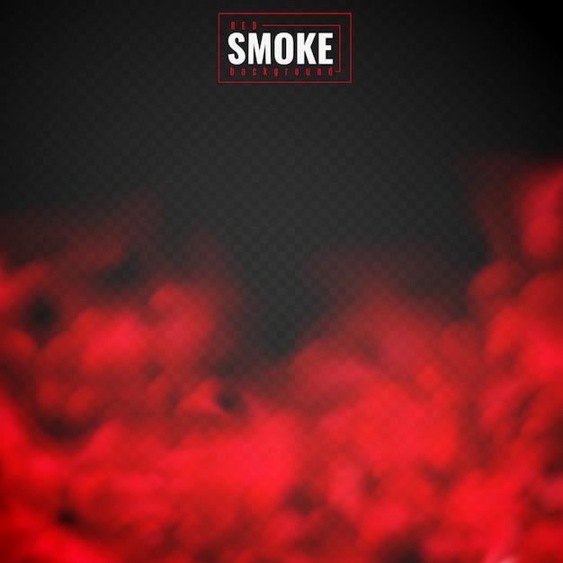 Roter rauch hintergrund Premium Vektoren
