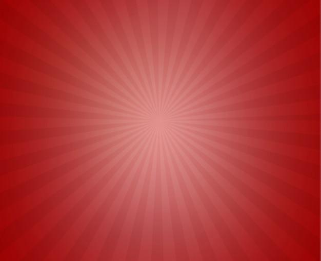 Roter sonniger strahlnhintergrund Premium Vektoren
