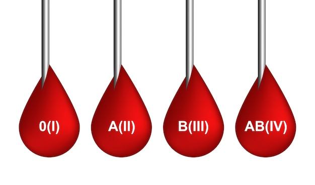 Rotes blut lässt ikonen oder blutende symbolsammlung lokalisiert auf weißem hintergrund fallen. realistische 3d-illustration von scharlachrotem tropfen, tropfen oder tröpfchen Premium Vektoren